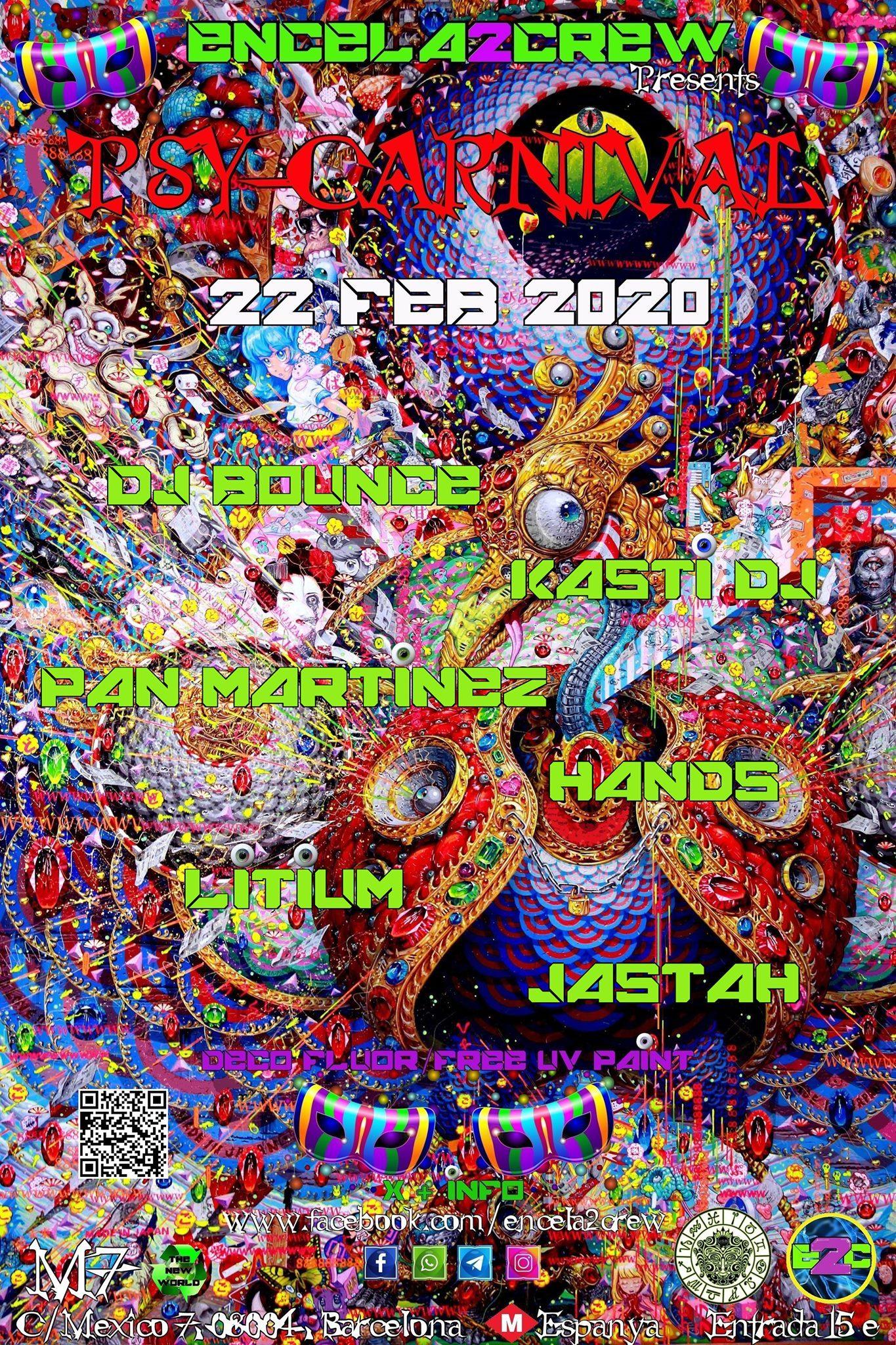Sabado 22/02/20 – Encela2crew Presents Psy-Carnival